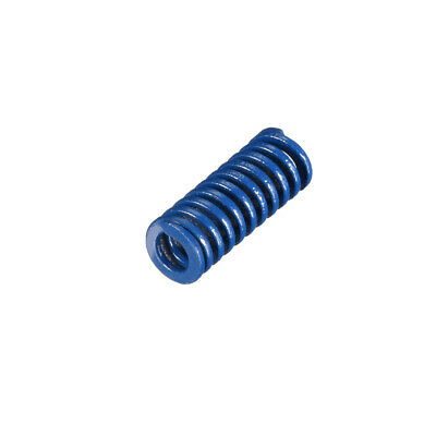8x20mm Long Spiral Stamping Light Load Compression Mould Die Spring Blue 1Pcs