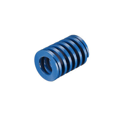 30mm OD 40mm Long Spiral Stamping Light Load Compression Mould Die Spring Blue