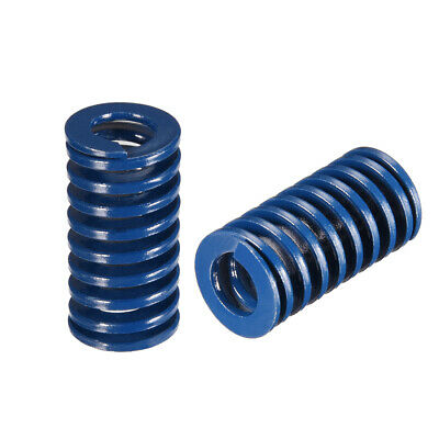 16x30mm Long Spiral Stamping Light Load Compression Mould Die Spring Blue 2Pcs