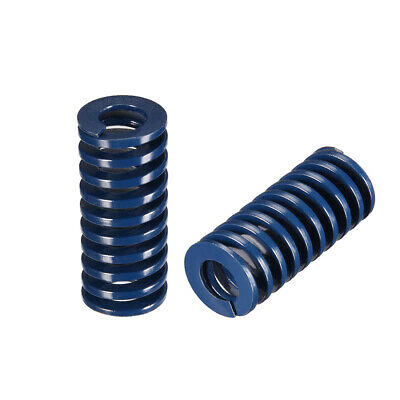 18x40mm Long Spiral Stamping Light Load Compression Mould Die Spring Blue 10Pcs