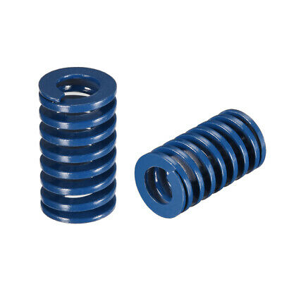18x 30mm Long Spiral Stamping Light Load Compression Mould Die Spring Blue 2Pcs