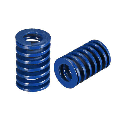 20x30mm Long Spiral Stamping Light Load Compression Mould Die Spring Blue 2Pcs