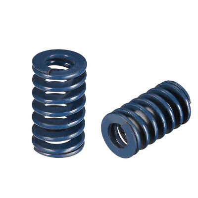18x30mm Long Spiral Stamping Light Load Compression Mould Die Spring Blue 10Pcs