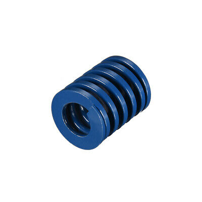 25x30mm Long Spiral Stamping Light Load Compression Mould Die Spring Blue 1Pcs