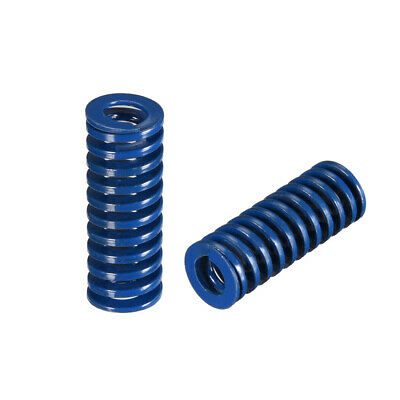 12x 30mm Long Spiral Stamping Light Load Compression Mould Die Spring Blue 2Pcs