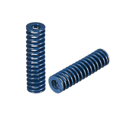10x35mm Long Spiral Stamping Light Load Compression Mould Die Spring Blue 2Pcs