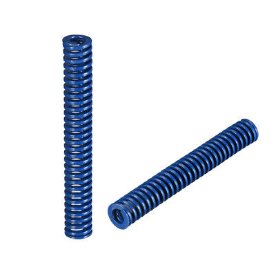 10x70mm Long Spiral Stamping Light Load Compression Mould Die Spring Blue 2Pcs