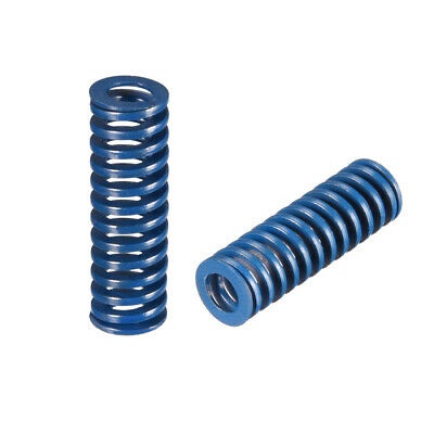 10x 30mm Long Spiral Stamping Light Load Compression Mould Die Spring Blue 2Pcs