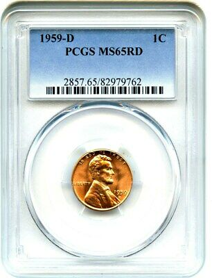 1959-D 1c PCGS MS65 RD - Lincoln Cent