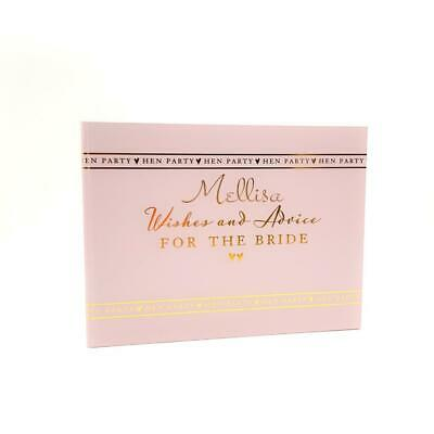 Personalised Pink and Gold Hen Party Bride To Be Guest Book WG693-PV94