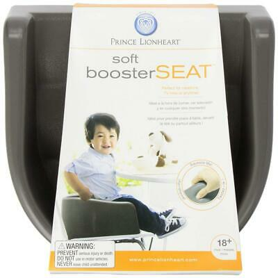 Prince Lionheart 6991 Soft Booster Seat (Charcoal Sierra Brown), Charcoal Brown