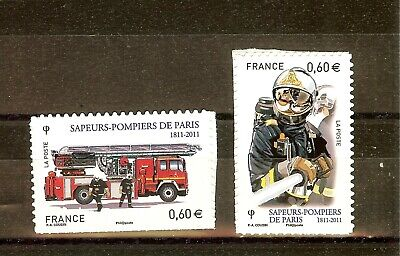 Timbre France Autoadhesif 2011 N° 601 Et 602  Neuf ** Pompiers