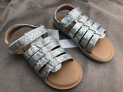 Girls (Infant) UK 5 / EU 21.5 silver sandals by Next *NEW*