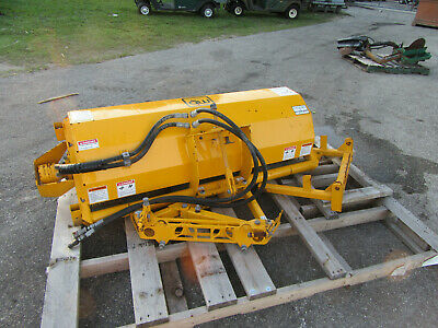 """Hydraulically driven 60"""" Rotary Angle Broom Toro Jacobsen Deere Comercial Mower"""