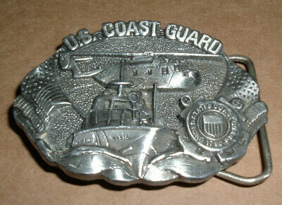 U.S. Coast Guard Belt Buckle M-132 Vintage Bergamot Brass Works  Made in USA