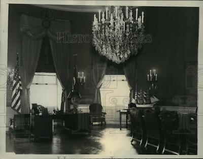 1934 Press Photo Blue Room of the White House to be Remodeled