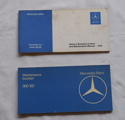Mercedes 1978 300SD maintenance and emission manuals
