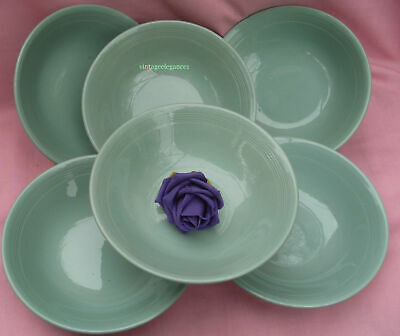 4  X  Woods Ware -  Beryl -  Green  -  Cereal/Fruit Bowls - Wwii