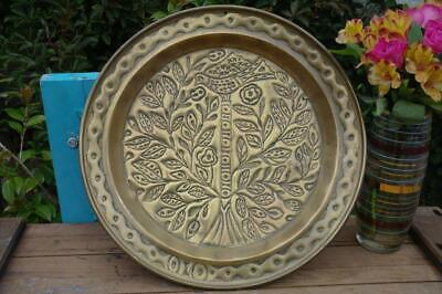 Antique Arts And Crafts Brass Charger Dish Wall Art 19thC Unique Interors CHIC