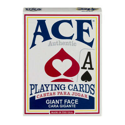 ACE Giant Face Playing Cards Assorted Color