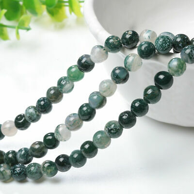 Wholesale Natural Aquatic Agate Round Gemstone Loose Spacer Beads 4/6/8/10 MM