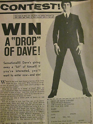 The Dave Clark Five, Full Page Vintage Clipping