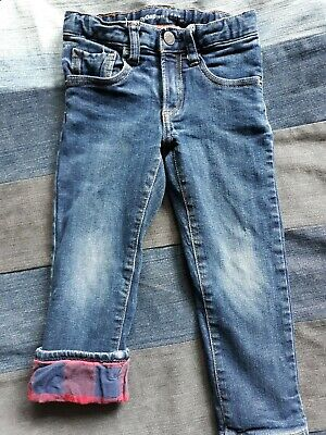 Baby Gap 1969 Flannel lined Straight Jeans Boy 4T 100% Cotton WARM