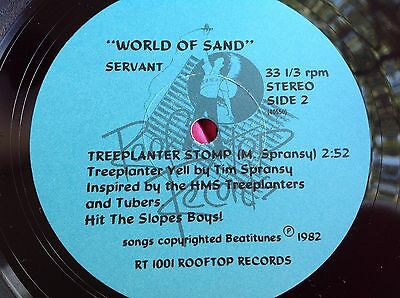 Rare Private Hard Rock 45 : Servant ~ World Of Sand  ~ Cog In The Wheel ~Rooftop
