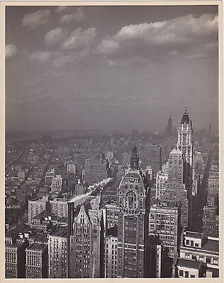Woolworth & Singer Buildings New York Iconic VINTAGE c.1930s Modernist photo
