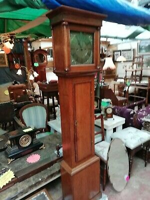 Grandmother longcase pendulum clock. With Key Full Working Order