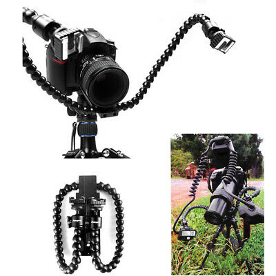 New Portable Dual-arm Flexible Flash Light Holder Bracket for Macro Shot Camera