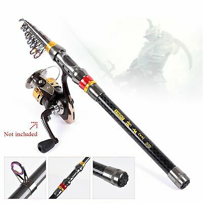 US NEW  Telescopic Carbon Fiber Fishing Rod Pole Spinning Tackle Sea Rod P1A6