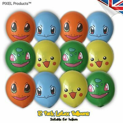 Pokemon Birthday Party Latex Balloons (12 Pack) fillers, favours, supplies, Loot