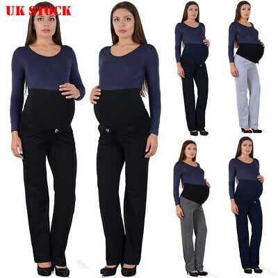 Maternity Over Bump Straight Leg Trousers Pregnancy Stretch Corduroy Pants 6-20
