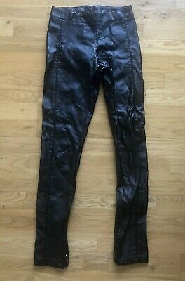 702a8481fb1683 TOPSHOP FAUX LEATHER High Waist Black Skinny PU Trousers Size 6 ...