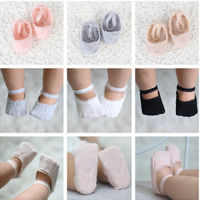 Baby Girls Infant Frilly Laciness Low Cut Ankle High Cotton Socks Christening