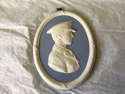 Wedgwood Blue Jasper Ware Plaque - Sir John William Alcock D.s.c.