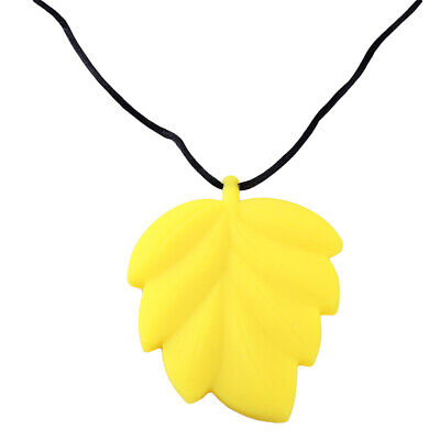 Baby Teething Care Teether Silicone Colorful Leaf Pattern Baby Rope Necklace Z
