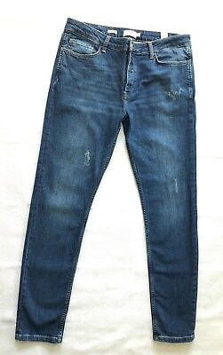 Mens TOPMAN Mid Wash Faded SKINNY STRETCH Jeans Size W 36 Reg Exc cond