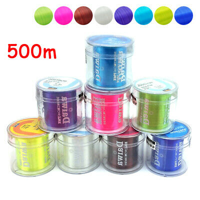 500M Nylon Fishing Line Transparent Monofilament Strong Durable Fishing Tackle