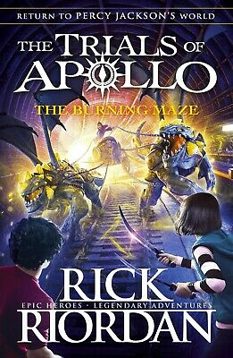 The Burning Maze (The Trials of Apollo Book 3 by Rick Riordan NEW Paperback Book