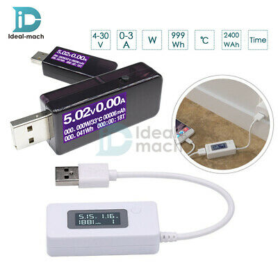 7in 1 USB Tester Voltmeter Ammeter Voltage Current Power Meter LCD Detector