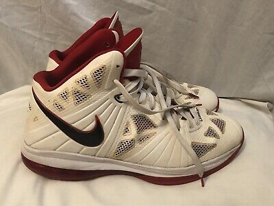 673d6dd2d089 Nike Lebron 8 Viii Ps Sz 14 White Black Sport Red Home Miami Heat 441946-