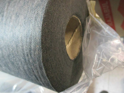 95m x 20cm FUSIBLE IRON ON STABILISER INTERLINING EMBROIDERY LIGHT WEIGHT  GREY