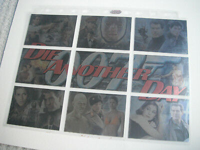 JAMES BOND DIE ANOTHER DAY : FULL SET OF 9 FOIL PUZZLE CARDS + 2 x PROMO . 2002