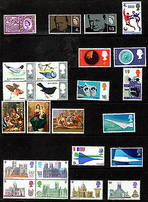QEII GB 1963-1970 selection of 20 complete Commemorative Sets - Unmounted Mint