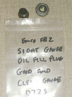 Emco FB-2 Mill Drill Super 11 Lathe Parts: Oil Sight Gauge & Oil Plug D22S
