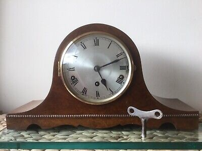 German  Urgos 8 Day Wesminster Chiming Mantel Clock, Fully Serviced, New Spring