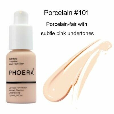 PHOERA Foundation Makeup Full Coverage Flawless Long Wear Soft Matte Oil Control