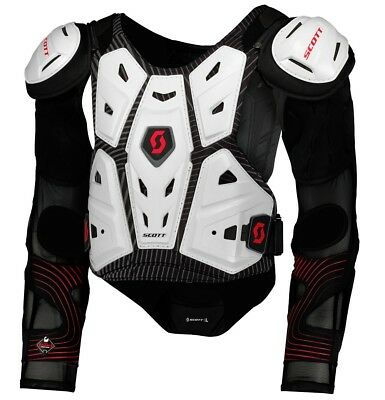 Pettorina Moto Cross Enduro Scott Commander 2 Wht Jacket Protector Body Armour M